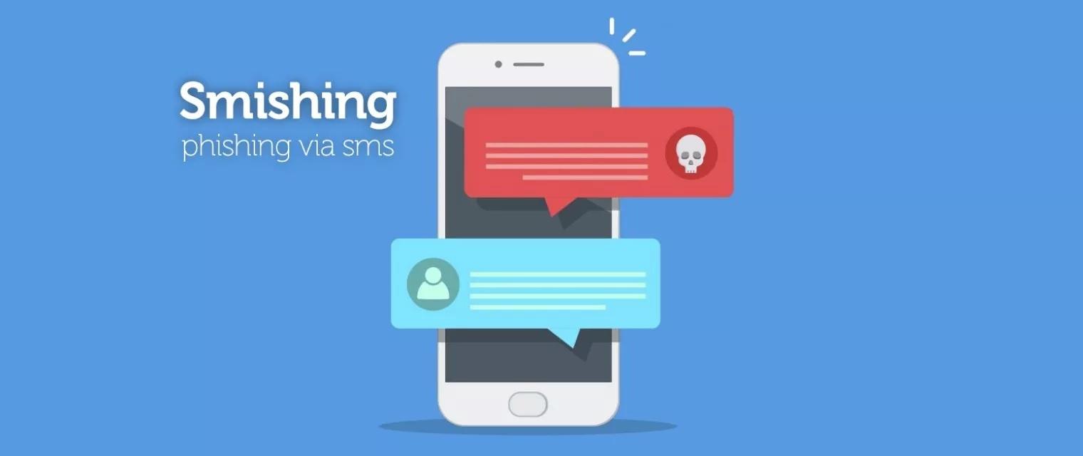 Smishing alarm phishing via SMS