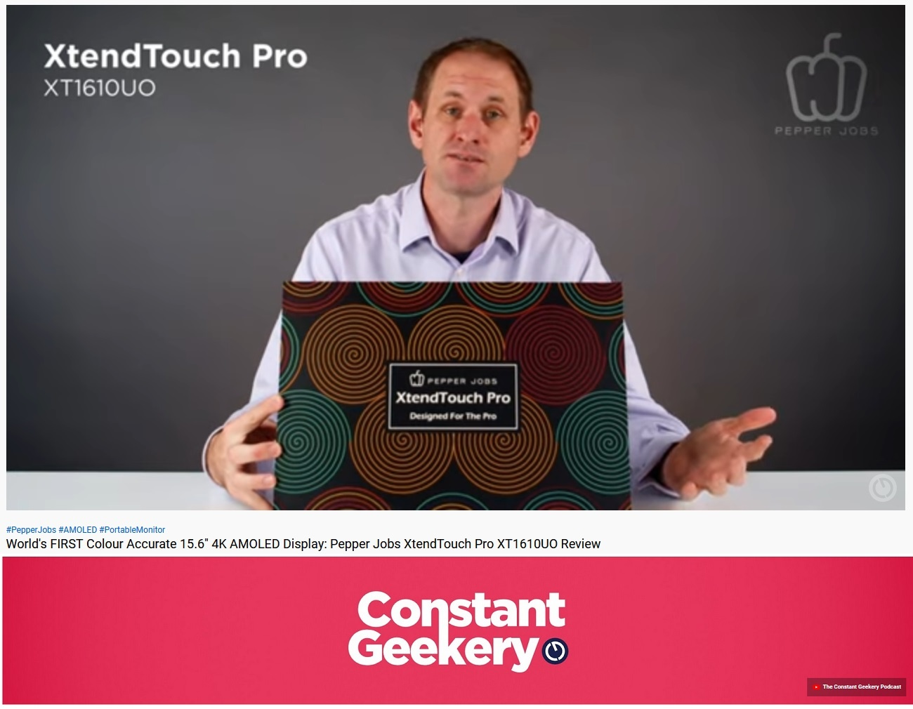 Review from Constant Geekery of the XTENDTOUCH PRO AMOLED Portable Monitor