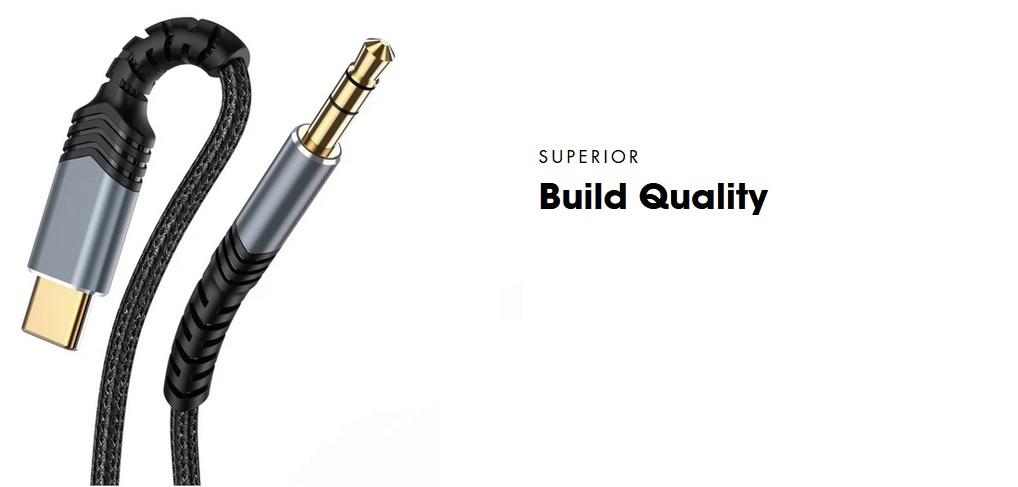 Cavo audio C2AUX USB-C a 3,5 mm | PEPPER JOBS EU