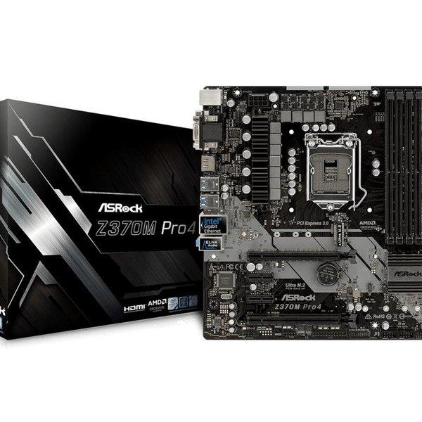 Asrock MB  Z370M Pro4 1151 8th comp /4 x DDR4  / USB3 / mATX