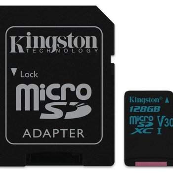 Kingston Technology Canvas Go! flashgeheugen 128 GB MicroSDXC Klasse 10 UHS-I