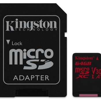 Kingston Technology Canvas React flashgeheugen 64 GB MicroSDXC Klasse 10 UHS-I
