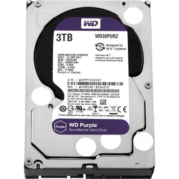 Western Digital HDD WD Purple™ 3TB IntelliPower - 64MB - SATA-600