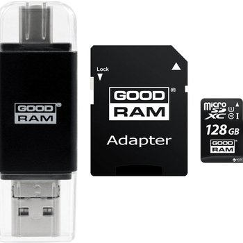 Goodram OTG cardreader + 128GB Micro SD + adapt / Type A/B/C