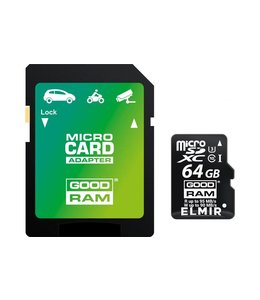 Goodram 64GB Micro SD + adapt /4K Class 10