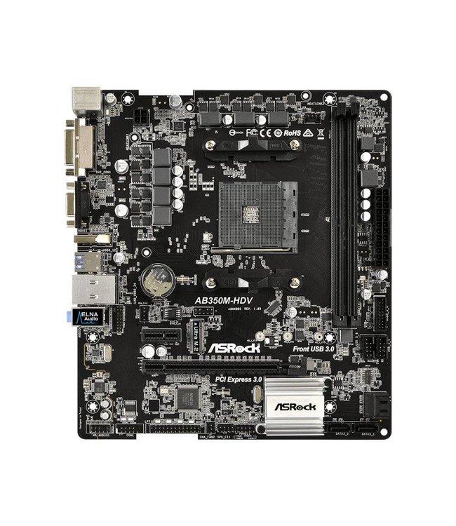Asrock MB ASRock AB350M-HDV / AM4 / B350 /Micro-ATX / 2x DDR4