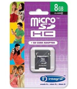 Integral Micro SD + SD adapter 8GB