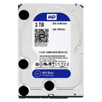 Western Digital Blue 3TB - 5400RPM - 64MB - SATA