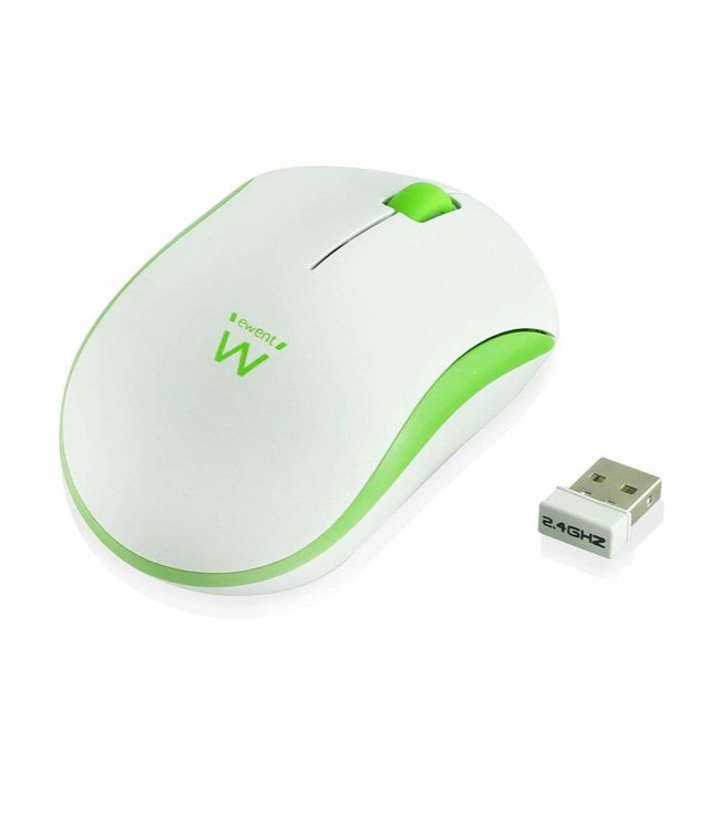 Ewent Wireless mouse white-green 1000dpi