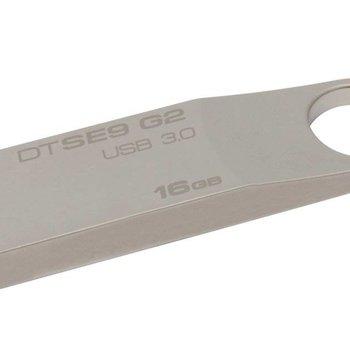 Kingston Technology DataTraveler SE9 G2 16GB USB flash drive 3.0 (3.1 Gen 1) USB-Type-A-aansluiting Zilver