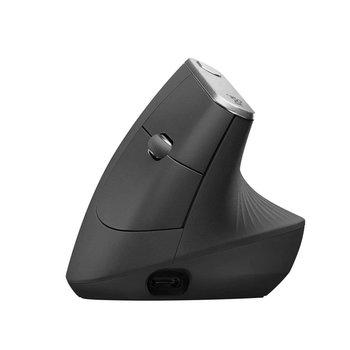 Logitech MX Vertical Advanced Ergonimic muis RF draadloos + Bluetooth Optisch 4000 DPI Zwart