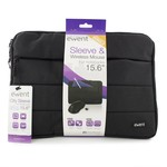 """Ewent City Sleeve 15.6"""", BLACK + Wireless mouse"""