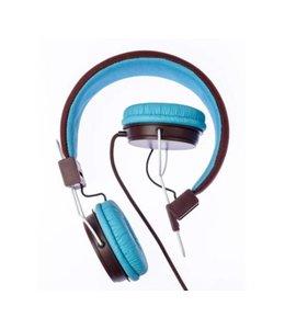 Grixx Optimum Grixx GROHRETRO02 Hoofdband Stereofonisch Bedraad Blauw, Bruin mobiele hoofdtelefoon