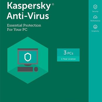 Kaspersky Antivirus 2017 DVD 3PC Multi-Language