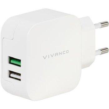 Vivanco thuislader 2xUSB 2.4A