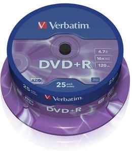 Verbatim DVD+R silver 25 pack spindle