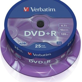 Verbatim DVD+R silver 25 pack spindle