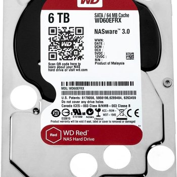 Western Digital HDD WD Red™ 6TB IntelliPower - 64MB - SATA3
