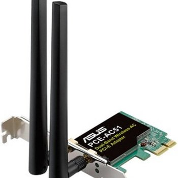 Asus PCE-AC51 WiFi-AC (2,4+5GHz) max. 733Mbps, PCI-e 2.0 x1