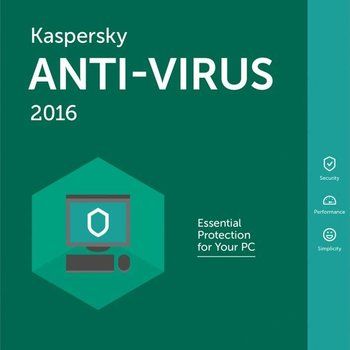 Kaspersky Lab Anti-Virus 2016 Base license 3gebruiker(s) 1jaar