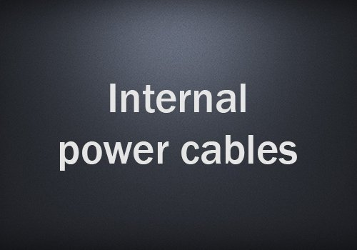 Internal power cables