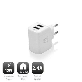 Ewent Eminent 2-Poorts Smart USB Lader 2.4A