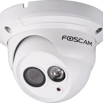 Foscam FI9853EP bewakingscamera IP-beveiligingscamera Buiten Dome Wit 1280 x 720 Pixels