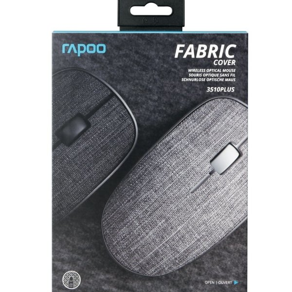 Rapoo 2.4GHz Wireless Mouse Fabric Black