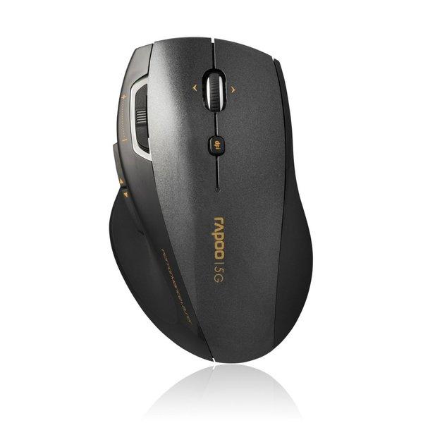 Rapoo 5GHz 800 - 1600 dpi laser mouse - 4D scroll - grey