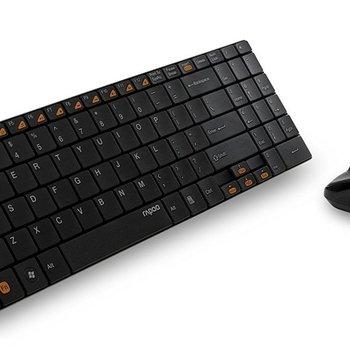 Rapoo 2.4GHz keyboard + 1000 dpi optical mouse - black