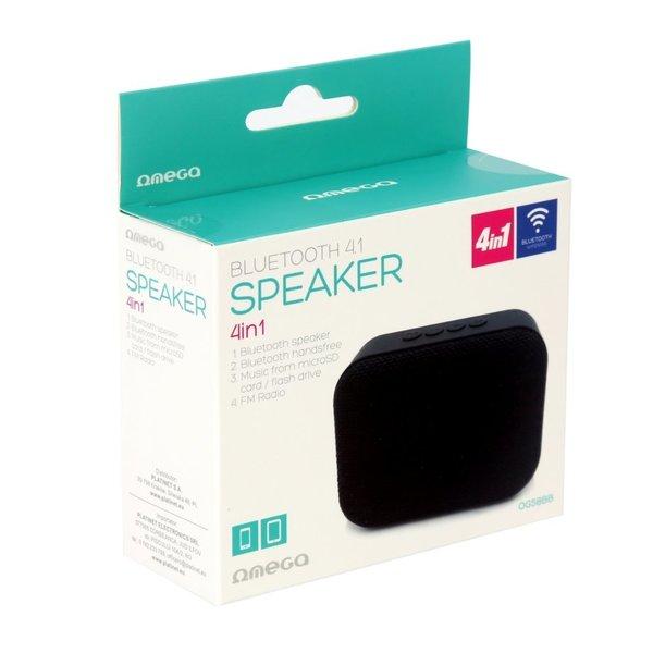 Platinet Omega Bluetooth speaker V4.1 / 5 uur Accu / RADIO FM / Black
