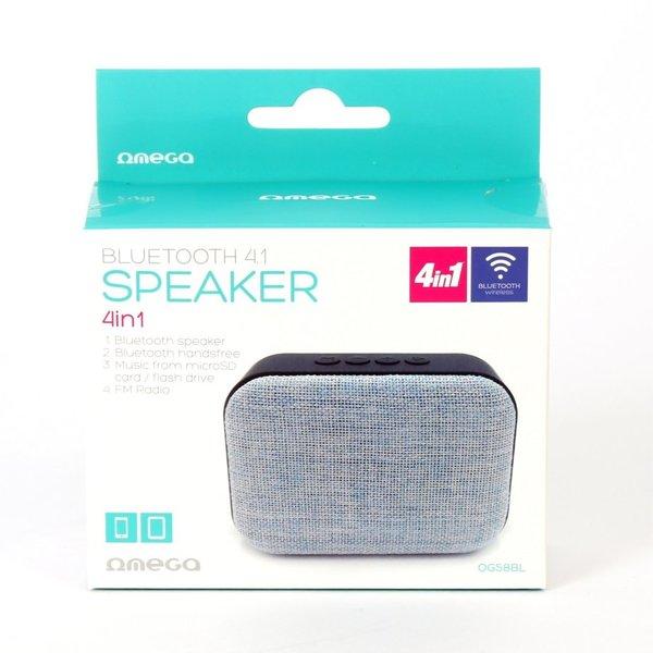 Platinet Omega Bluetooth speaker V4.1 / 5 uur Accu / RADIO FM / Blue
