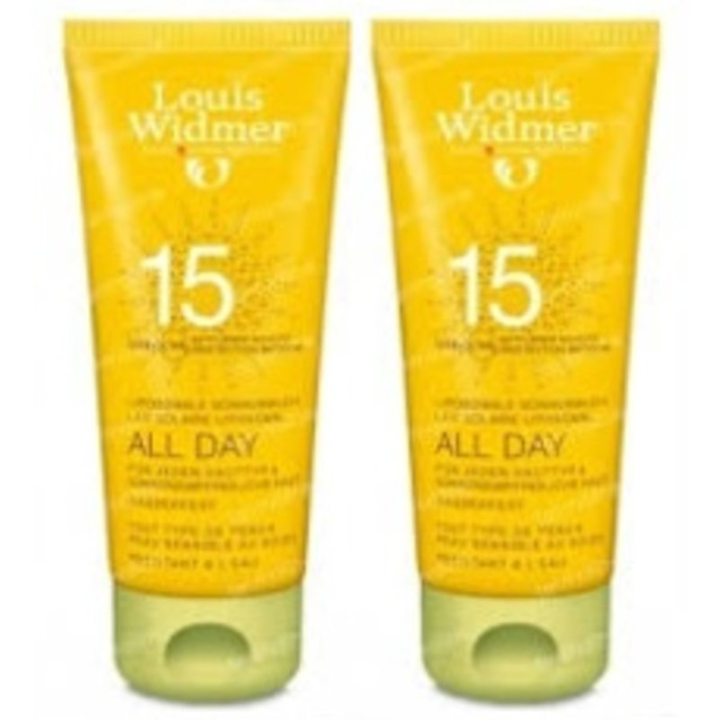 Louis Widmer All Day SPF 15+ DUO ongeparfumeerd