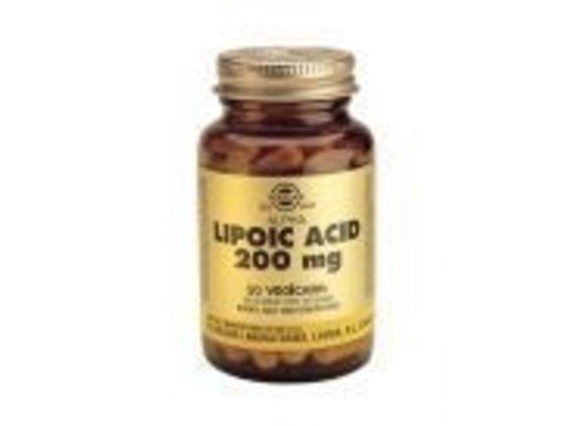 Solgar Solgar Alpha Lipoic Acid 200 mg Liponzuur plantaardige capsules