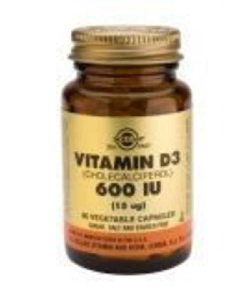 Solgar Solgar Vitamin D-3 600 IU plantaardige capsules