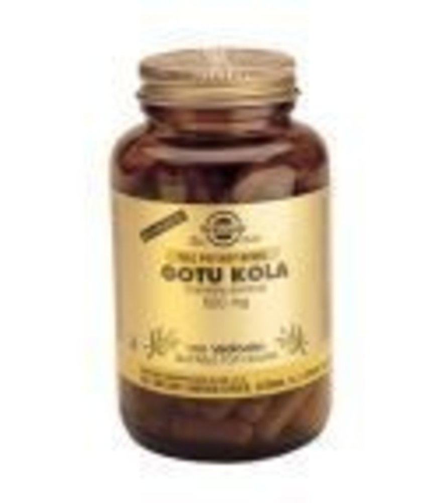 Solgar Solgar Gotu Kola Aziatische waternavel plantaardige capsules