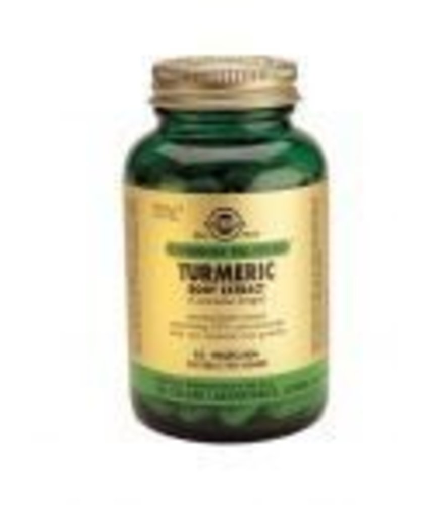 Solgar Solgar Turmeric Root Extract Geelwortel, Curcuma plantaardige capsules
