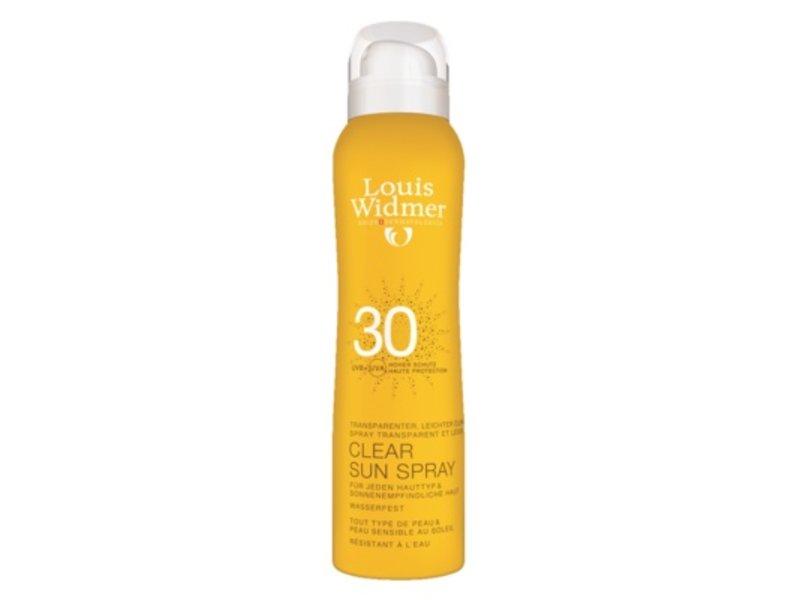 Louis Widmer Louis Widmer Clear sun spray SPF 30 geparfumeerd