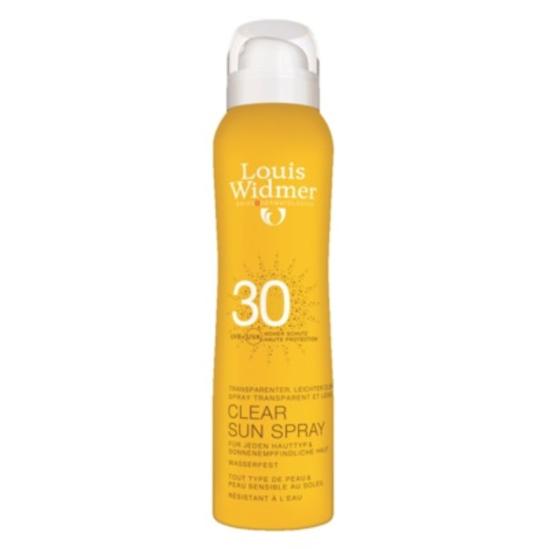 Louis Widmer Clear sun spray SPF 30 geparfumeerd