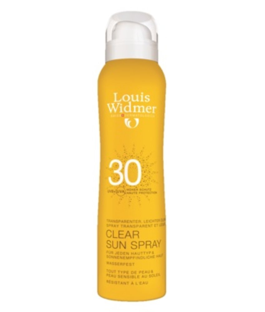 Louis Widmer Clear sun spray SPF 30 geparfumeerd