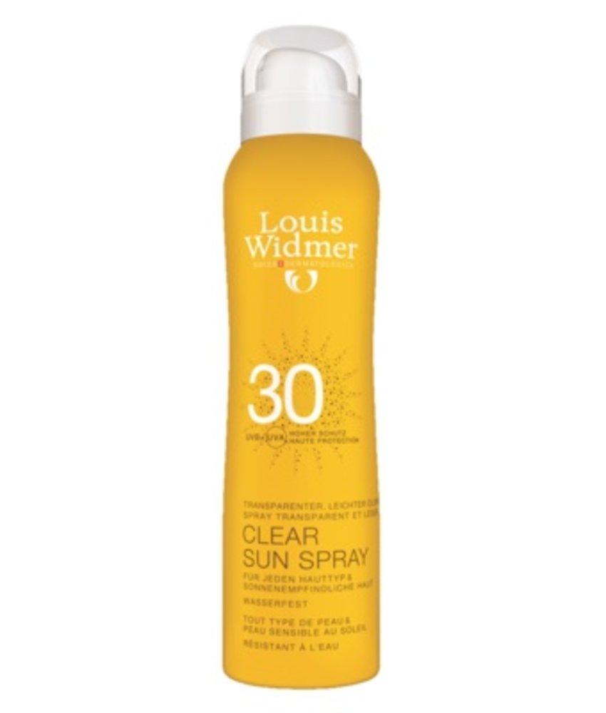 Louis Widmer Clear Sun Spray SPF 30 ongeparfumeerd