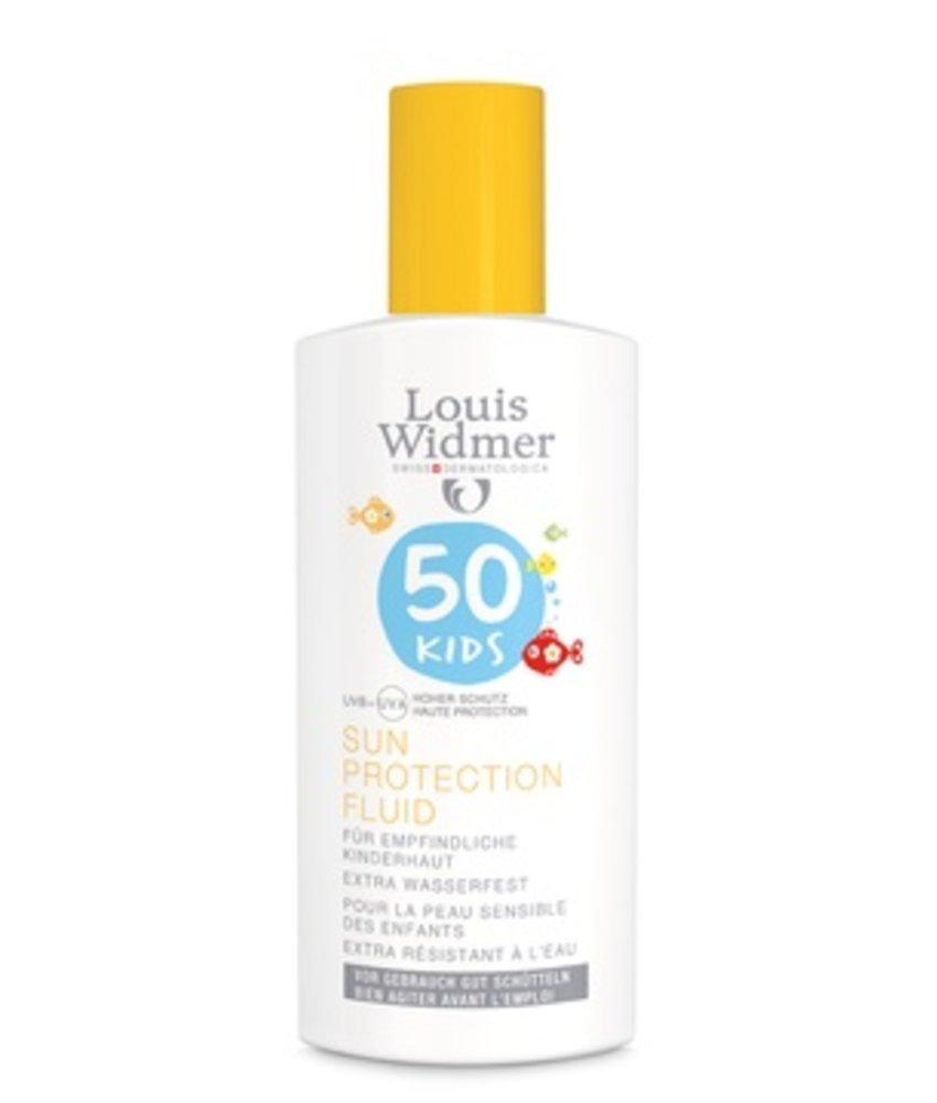 Louis Widmer Zonnenbrand (fluid) kids factor 50 ongepafumeerd