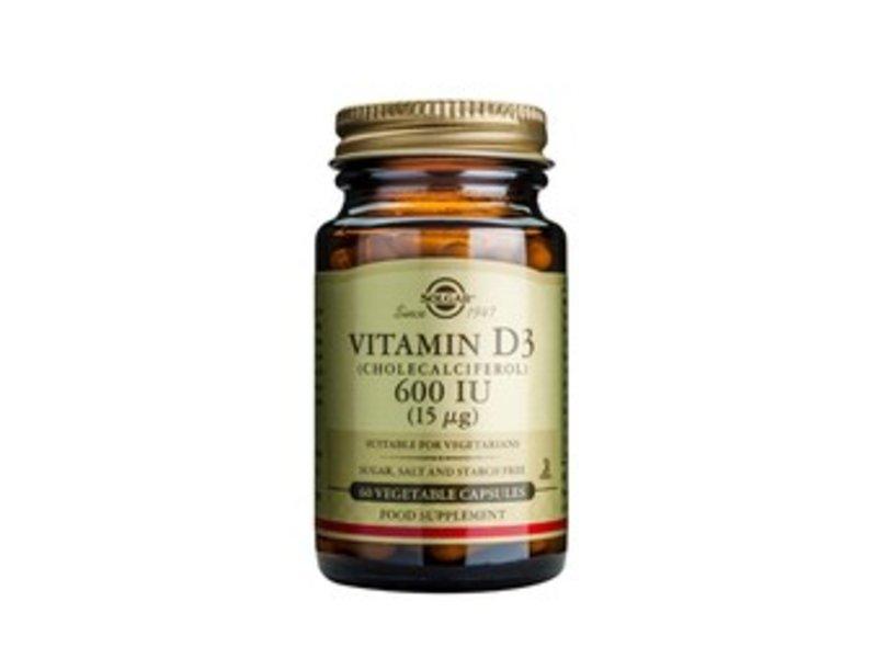 Solgar Vitamin D-3 15 µg/600 IU plantaardige capsules
