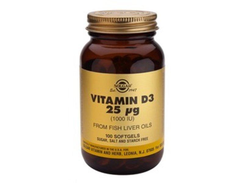 Solgar Vitamin D-3 25 µg/1000 IU softgel