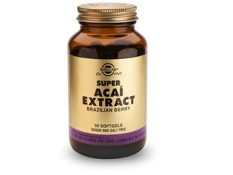 Solgar Super Acaï Extract Brazilian Berry Softgels