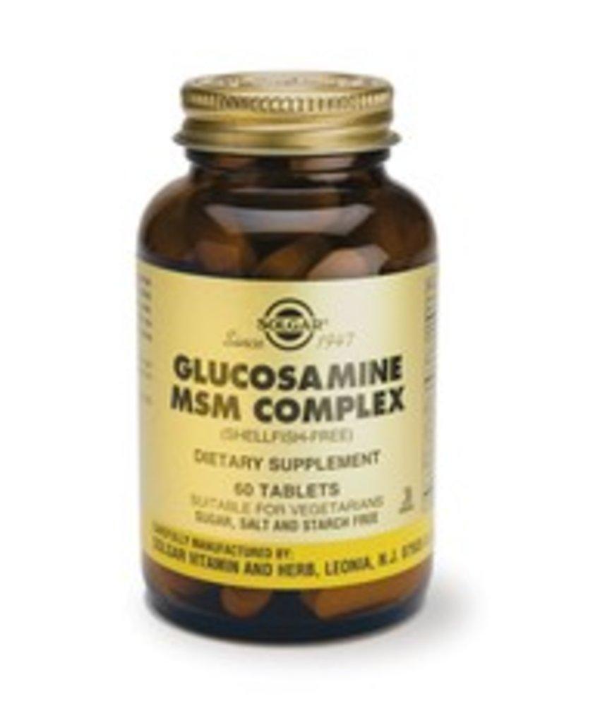 Solgar Glucosamine MSM Complex (Vegetarisch, schaaldiervrij) tabletten