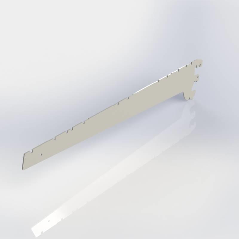 Consoles 3 haken, paar schapdragers links en rechts voor legbord metaal, verstelbaar in 0, 20 en 35 graden.