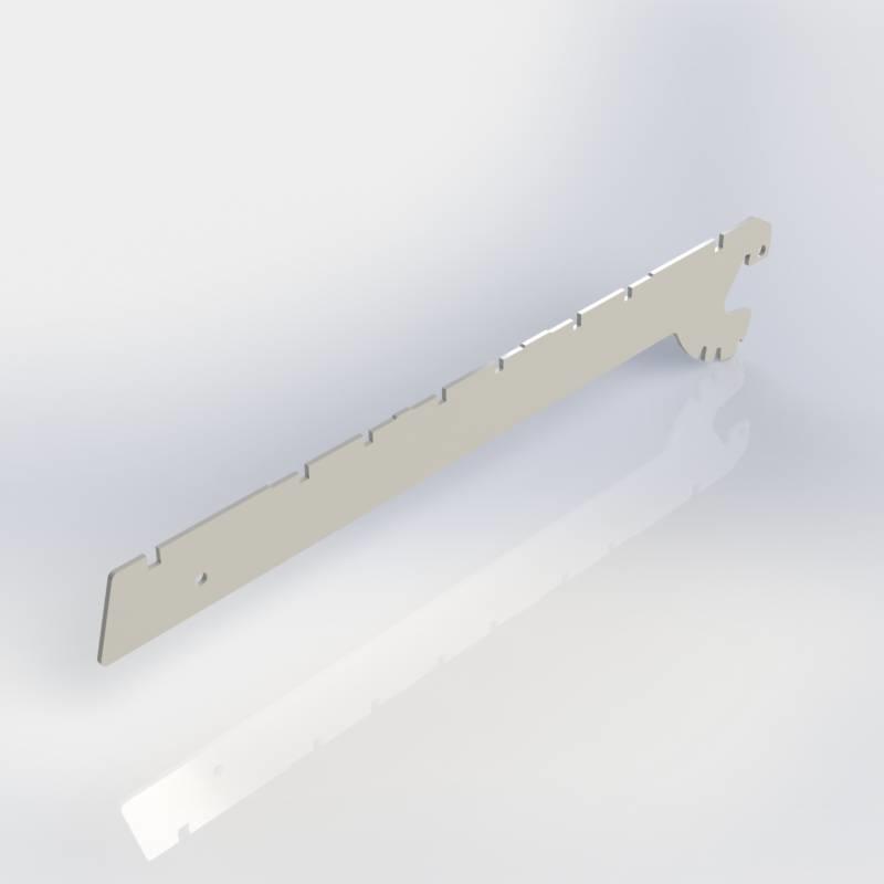 Consoles 2 haken, paar schapdragers links en rechts voor legbord metaal, verstelbaar in 0, 20 en 35 graden.