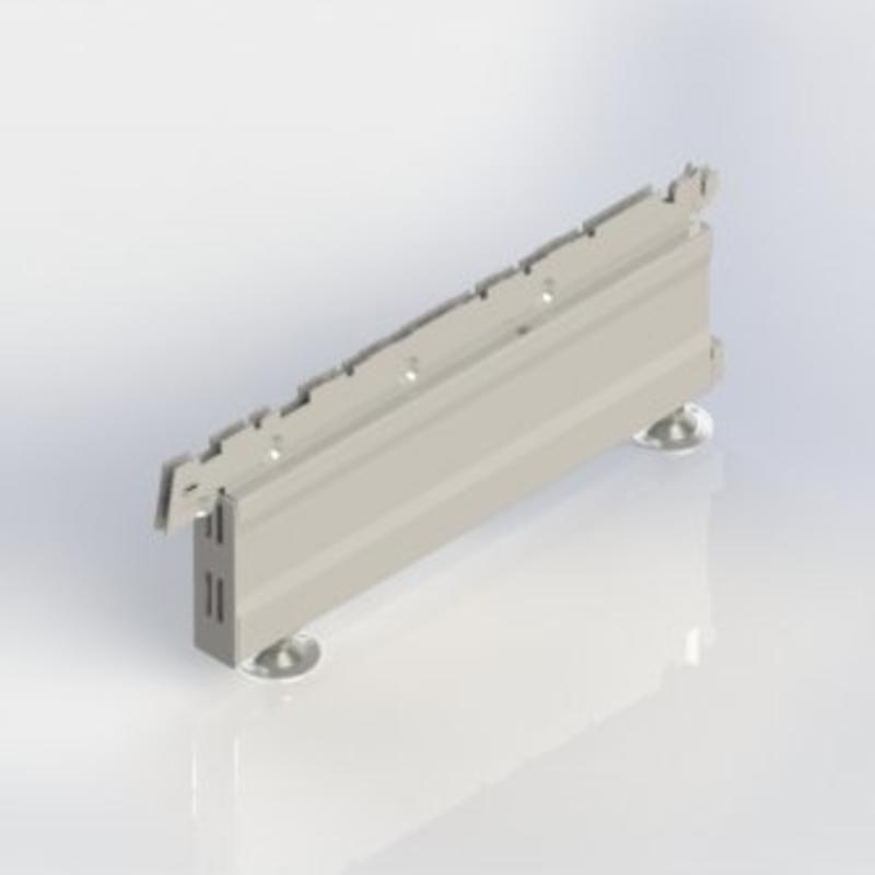 Voet hoogte 160 mm. vast te haken in een staander van een stelling.