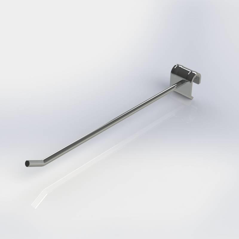 Frontpen chroom, 7 mm. dik, toepasbaar op een plat-ovale draagbalk.